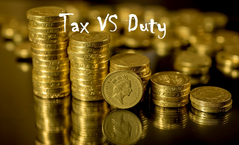 Difference between tax and duty