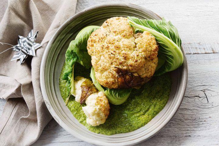Cauliflower in green sauce